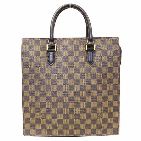 7965272f LOUISVUITTON Venice Sac Plat Damier Ebene Tote Bag